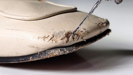 How $1,000 Gucci mules are restored from bite marks
