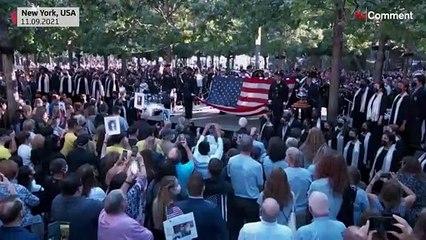 ABD'de 11 Eylül terör saldırılarının 20. yılında kurbanlar için anma töreni