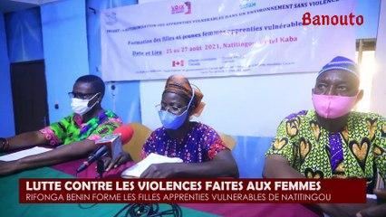 Lutte contre les violences faites aux femmes: Rifonga-Bénin forme 20 apprenties vulnérables de Natitingou