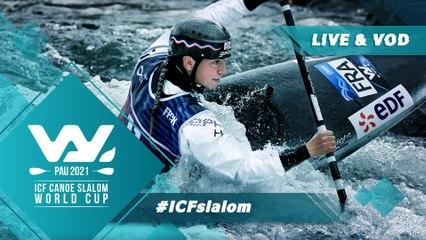 2021 ICF Canoe-Kayak Slalom World Cup Pau France / Canoe Semis