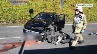 Vier Verletzte bei Frontalzusammenstoß in Hopfgarten