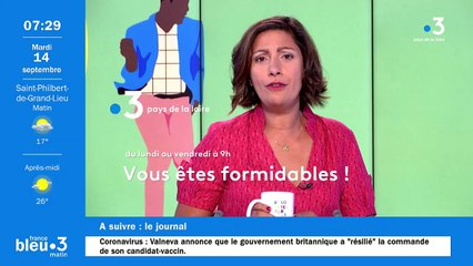 14/09/2021 - Le 6/9 de France Bleu Loire Océan en vidéo