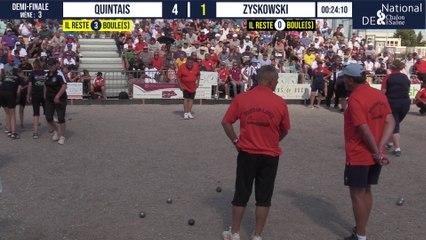 Demi-finale QUINTAIS vs ZYSKOWSKI : National à pétanque de Chalon-sur-Saône 2021