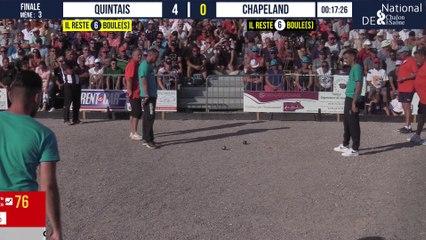 Finale QUINTAIS vs CHAPELAND : National à pétanque de Chalon-sur-Saône 2021