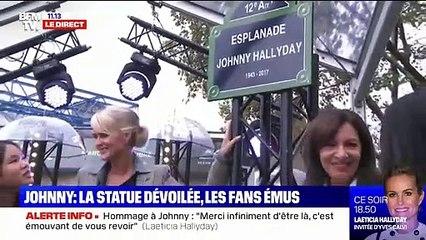 La sculpture de Johnny Hallyday dévoilée