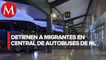 Detienen a tres haitianos en Central de Autobuses de Monterrey
