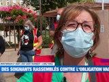 A la Une : Dernier jour pour les soignants ! / La vogue des noix modèle réduit / La rentrée politique dans la Loire - Le JT - TL7, Télévision loire 7