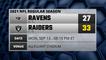 Ravens @ Raiders Game Recap for MON, SEP 13 - 08:15 PM ET