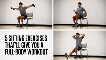 5 Sitting Exercises That'll Give You a Full-Body Workout