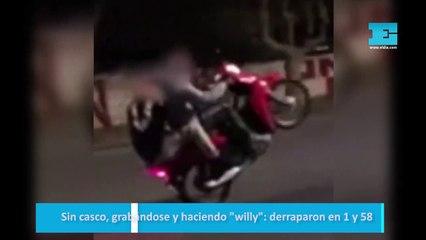 """Sin casco, grabándose y haciendo """"willy"""": derraparon en 1 y 58"""