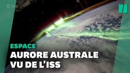 Thomas Pesquet filme une magnifique aurore australe