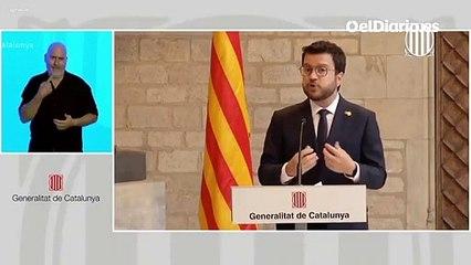"""Aragonès coincide con Sánchez en que la negociación """"requerirá tiempo"""""""