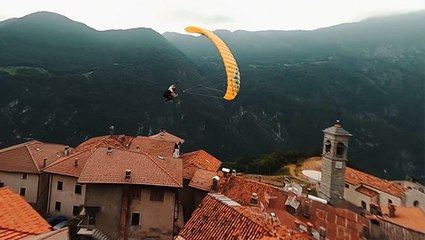 Speedflying Over Mountaintops And Rooftops In Trentino, Italy