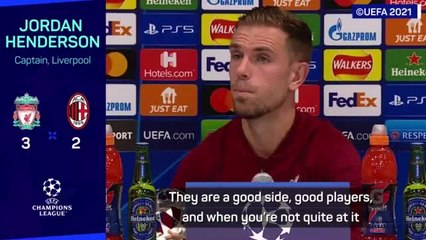 Match-winner Henderson delighted with Reds reaction versus Milan