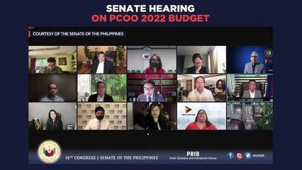 Senate hearing on 2022 PCOO budget