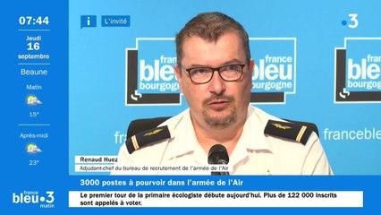 L'armée de l'air recrute, l'adjudant-chef Renaud Huez du bureau de recrutement de Dijon est l'invitée de France Bleu Bourgogne