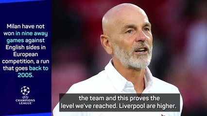Milan will grow from Liverpool defeat says Pioli