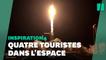 Les images du décollage de la fusée SpaceX avec quatre touristes spatiaux