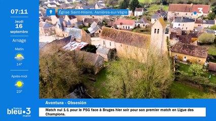 16/09/2021 - Le 6/9 de France Bleu Maine en vidéo