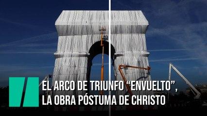 """El Arco de Triunfo de París permanecerá """"envuelto"""" hasta el 3 de octubre"""