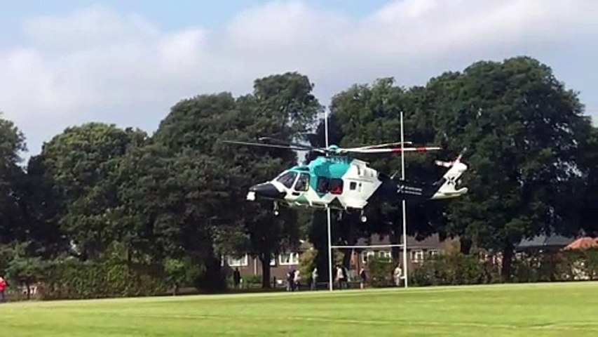 Air ambulance responds to A286 crash