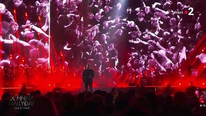 """Patrick Fiori reprend """"Que je t'aime"""" avec ferveur au concert hommage à Johnny"""