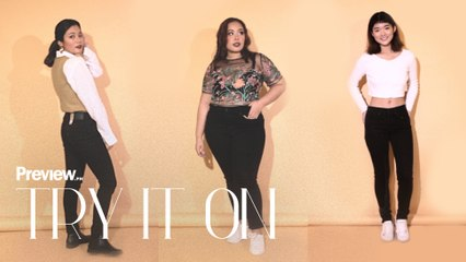 Girls in Different Sizes Wear the Same Black Skinny Jeans | Try It On | PREVIEW