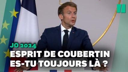 """Quand Macron passe de la petite à la grosse """"entorse"""" à l'esprit de Coubertin"""
