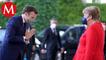 Macron recibe en París a Angela Merkel