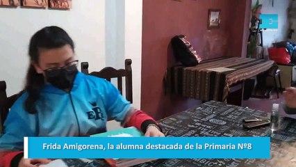 Frida Amigorena, la alumna destacada de la Primaria Nº8