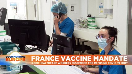 France suspends 3,000 health workers for failing to get a COVID vaccine