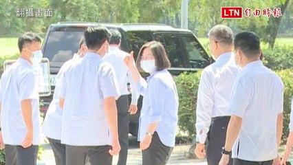 努力催貨百萬劑莫德納今抵台 蔡總統微笑比讚(翻攝畫面)
