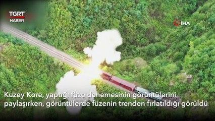 Kuzey Kore'den Cesur Hamle: Trenden Yapılan Füze Denemesi Korku Saçtı!