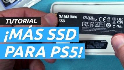 Amplía el almacenamiento SSD de PS5. Tutorial y comparativa de tiempos con el disco duro interno