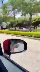 老翁转错车道逆驶 惊险万分幸无意外