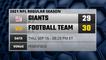 Giants @ Football Team Game Recap for THU, SEP 16 - 08:20 PM ET
