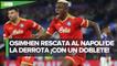 Con doblete de Osimhen, el Napoli empata en su debut de Europa League