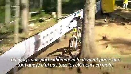"""""""La peur fait que je maîtrise"""", explique Myriam Nicole, championne de VTT de descente"""