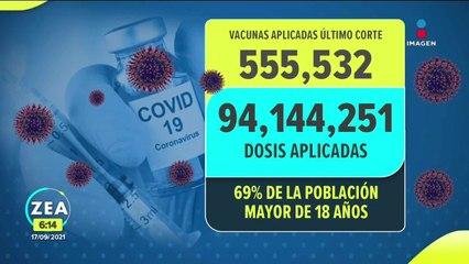 Reporte diario de la vacunación contra Covid-19 en México