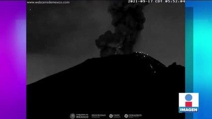 El Popocatépetl registra 3 explosiones que elevaron columnas de humo