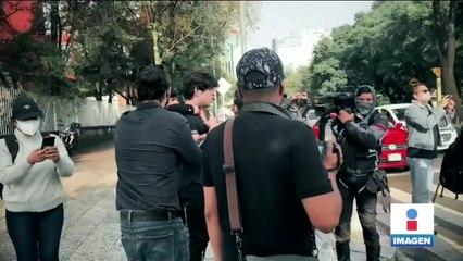 Cubanos protestan por la visita del presidente Díaz-Canel a México