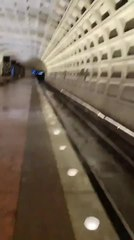 Water Pours in Through Roof of Metro Station at D.C