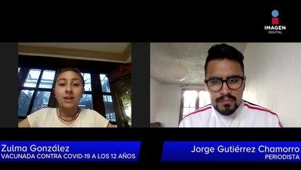 Zulma González tiene 12 años y ya fue vacunada contra Covid-19