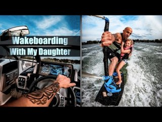 Person Goes Wakeboarding  With Daughter
