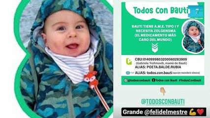 #TodosConBauti: piden ayuda para que un bebé platense