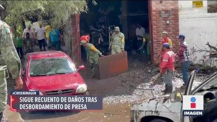 Numerosos daños dejó el desbordamiento de una presa en Zacatecas