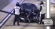 Watch No. 10 pit crew go to work to fix oil-line break