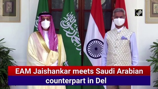 EAM Jaishankar meets Saudi Arabian counterpart in Delhi