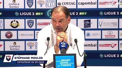 J8 Ligue 2 BKT : La réaction de Stéphane Moulin après SC Bastia 1-1 SMCaen