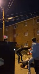 Guy Backflips Off of Dumpster and Faceplants to the Ground as Drunk Friends Fail to Catch him
